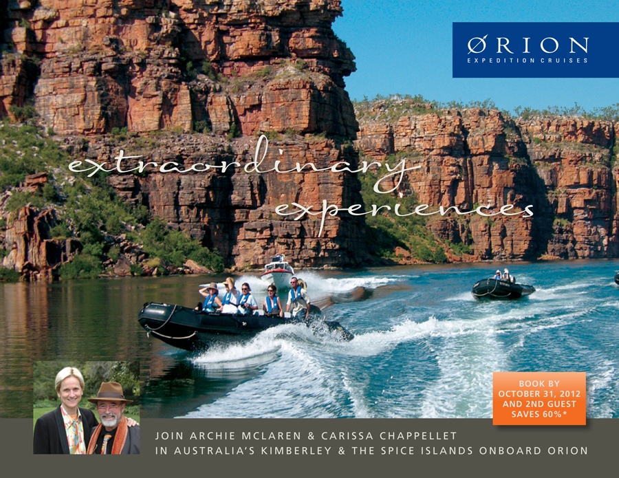 Join Carissa and Archie on Orion Cruises!